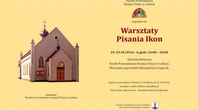Warsztaty Pisania Ikon 24–29.10.2016r.