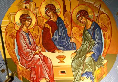 Freski w lubińskiej Cerkwi.