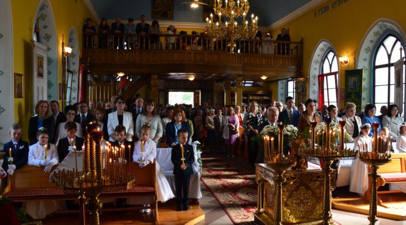 Uroczystość Pierwszej Spowiedzi w lubińskiej Cerkwi.