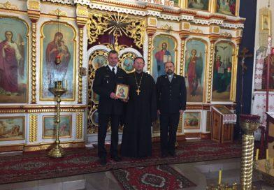 Spotkanie z Komendantem Powiatowej PSP w Lubińskiej Cerkwi.