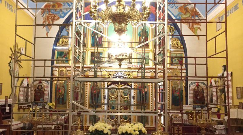 Rozpoczęcie II etapu polichromii w lubińskiej Cerkwi.