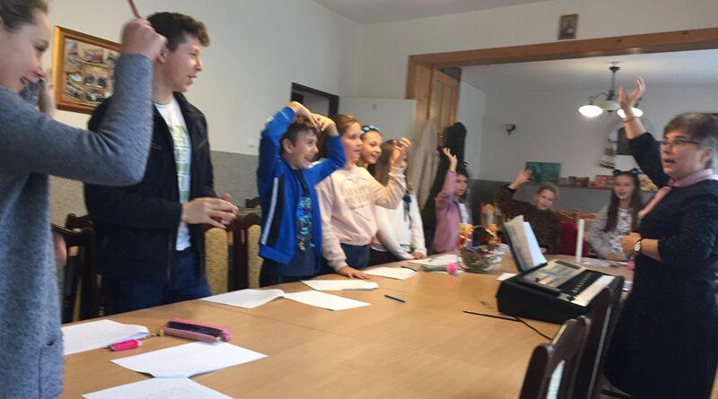 Dziecięce warsztaty śpiewu cerkiewnego w Lubinie.