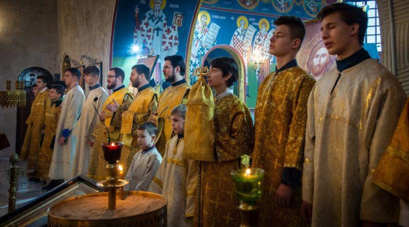 Lubińska młodzież w Supraskim Monasterze.